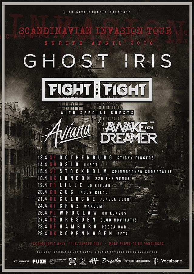 Ghost Iris, Fight the Fight, Aviana, Awake The Dreamer tour 2018