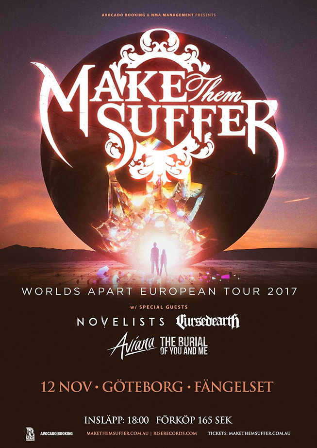 Make Them Suffer european tour 2017
