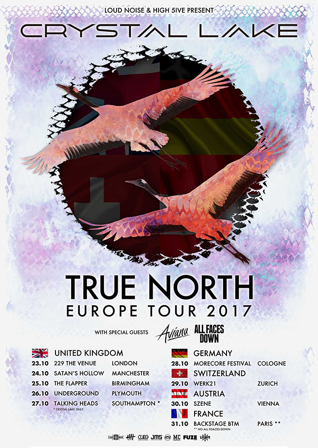Crystal Lake true North tour 2017