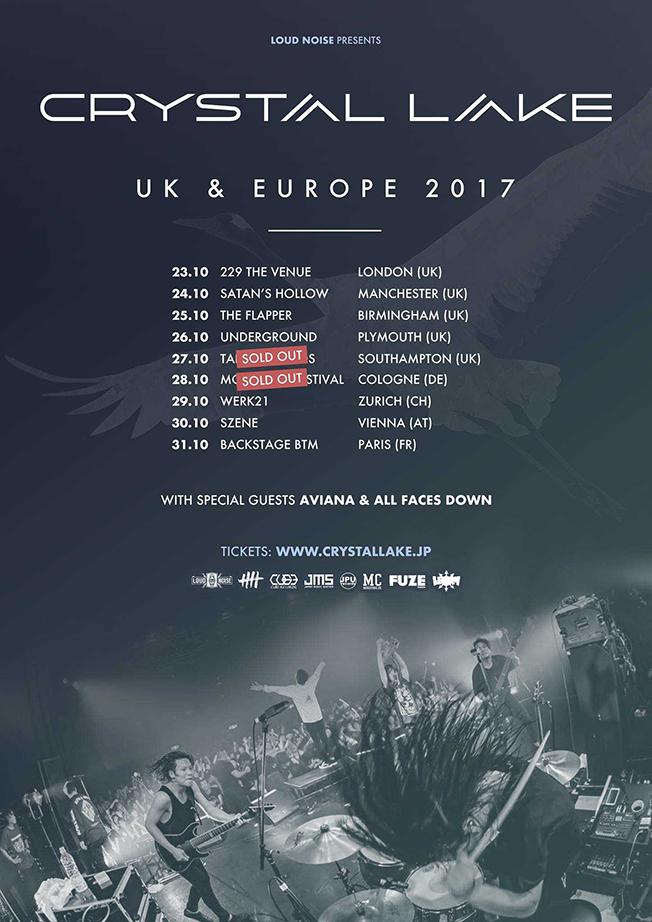 Crystal Lake UK & Europe tour 2017