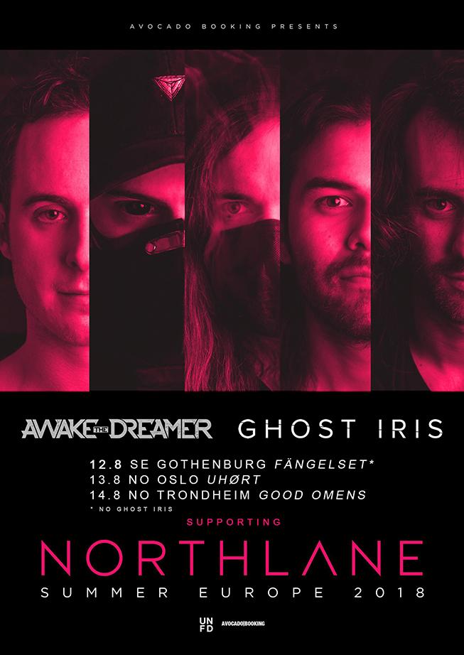 Northlane, Awake The Dreamer and Ghost Iris Summer Europe Tour 2018