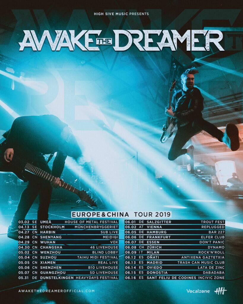 Awake The Dreamer Europe & China tour 2019