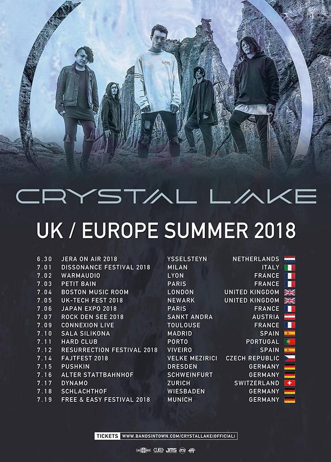 Crystal Lake UK and Europe Tour 2018