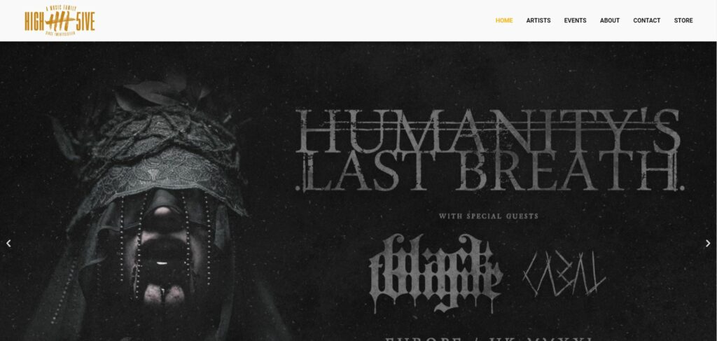 Humanitys Last Breath European and Uk Tour 2020 / 2021