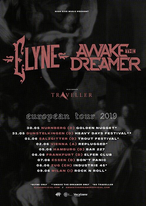 Elyne, Awake The Dreamer European tour 2019