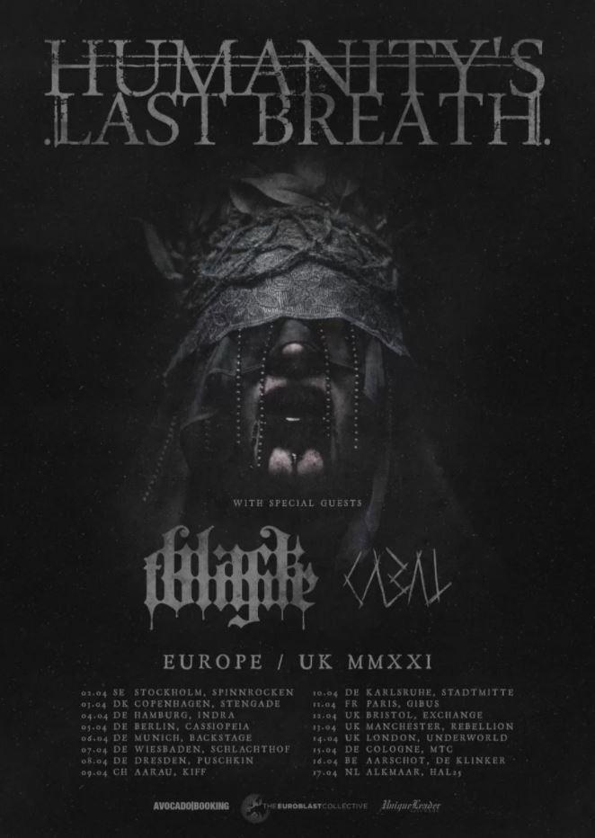 Humanitys Last breath UK and European tour 2020 / 2021